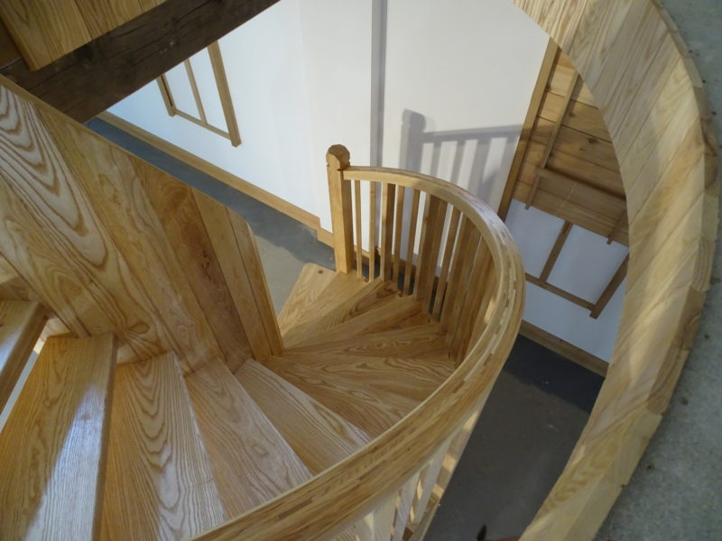 Descending the helical staircase