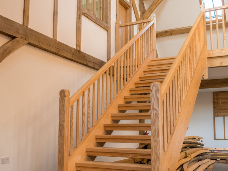 Main staircase by Greenbank Furniture