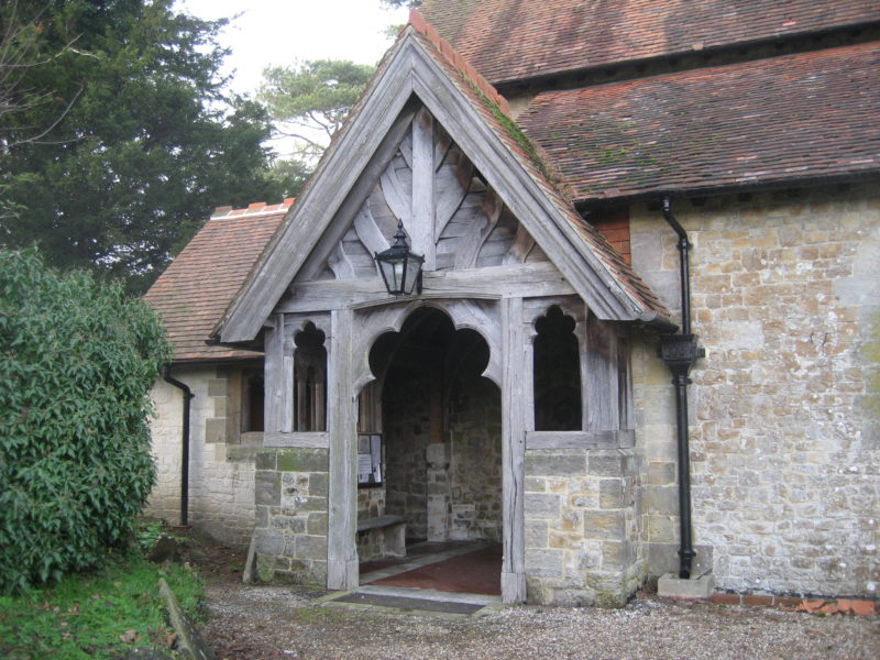 Victorian porch with new extension to the left